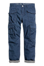 Lined cargo trousers - Dark blue - Kids | H&M CN 2